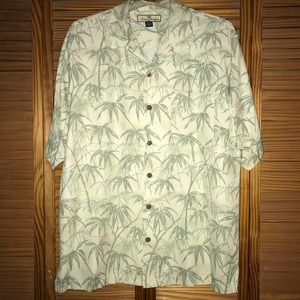 Tommy Bahama Bamboo Button Down Short Sleeve Shirt